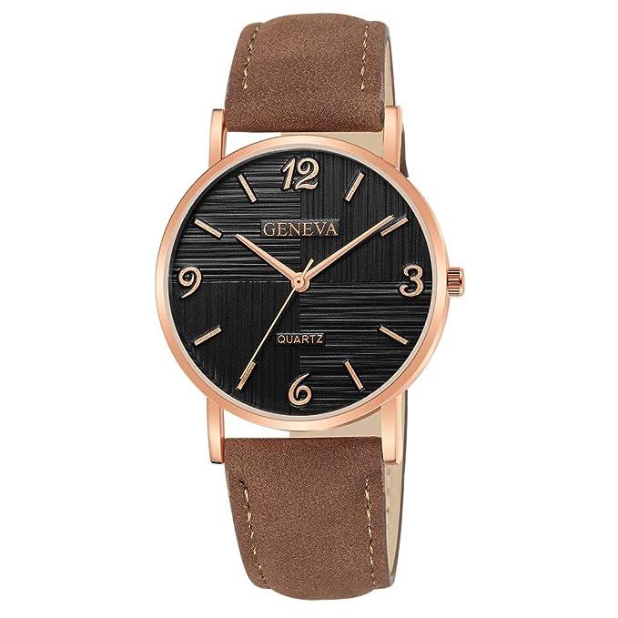 Darringls_Reloj Geneva,Reloj de Pulsera de Cuarzo de Cuero analógico de Diamantes de Mujer Relojes Mujer Pulsera Regalo para Novia: Amazon.es: Ropa y ...
