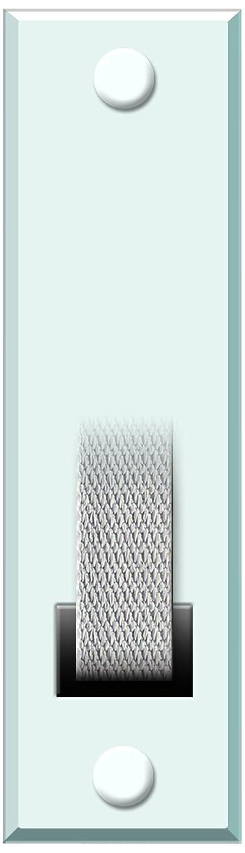 Schellenberg 53102 Standard-Piastra di copertura per avvolgitore della cinghia, colore: bianco
