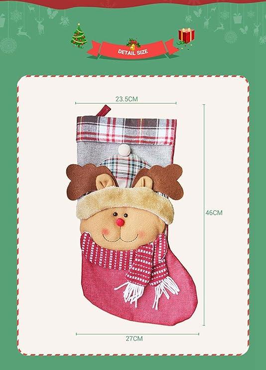 Bainuojia Deco Fieltro de Botas de Navidad para Rellenar y ...