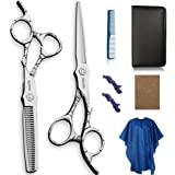 Mancola Professional Home Hair Cutting Kit 6 Inch Hair Thinning Scissors Cutting Teeth Shears Barber Hairdressing…