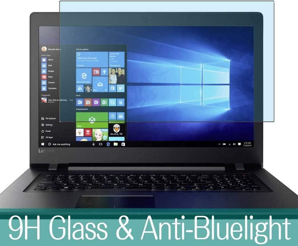 """Synvy Anti Blue Light Tempered Glass Screen Protector for Lenovo ideapad 320 17.3"""" Visible Area 9H Protective Screen Film Protectors (Not Full Coverage)"""