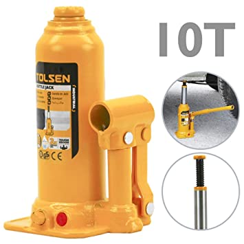 Tolsen - Gato hidráulico de Botella de 10 toneladas: Amazon.es: Electrónica