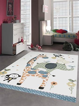 Carpetia Teppich Kinderzimmer Babyzimmer Zootiere Affe Giraffe ...