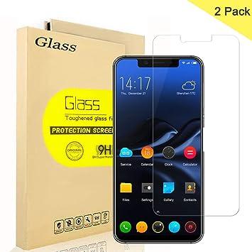 2 Unidades] Elephone A4 Protector de Pantalla, AOLANDER Cristal ...