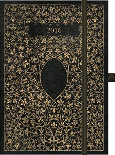 Premium Timer Big 34;Antik - Schwarz34; 2016: Buchkalender mit hochwertiger Folienveredelung und Prägung