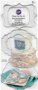 Wilton 417-7555 6 Piece Plaque Fondant Cut-Outs Set
