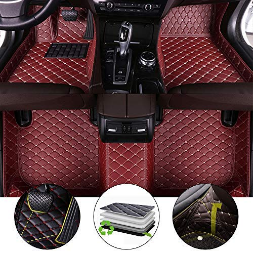 All Weather Floor Mat for 2018-2019 Toyota C-HR Full Protection Car Accessories Wine Red 3 Piece Set
