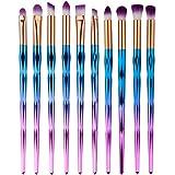 Eye Brush Set Unicorn,Ksruee Eyeliner Eyeshadow Blending Brush Makeup Tools Cosmetic Brushes Kit 10 PCS
