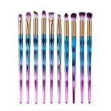 Eye Brush Set Unicorn,Molie Eyeliner Eyeshadow Blending Brush Makeup Tools Cosmetic Brushes Kit 10 PCS