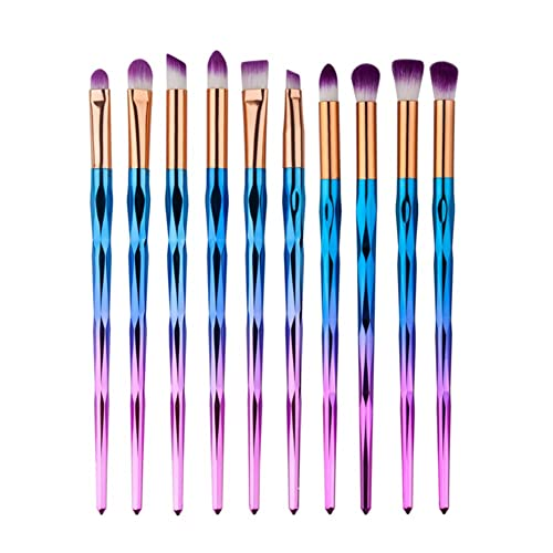Eye Brush Set Unicorn,Molie Eyeliner Eyeshadow Blending Brush Makeup Tools Cosmetic Brushes Kit 10 PCS