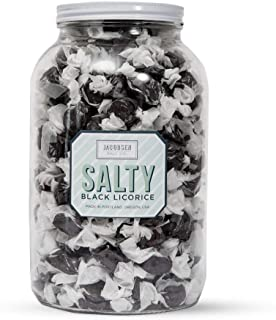 product image for Jacobsen Salt Co. Salty Black Licorice Snacking Candy 4lb Jar with approximately 220 pieces of candy.