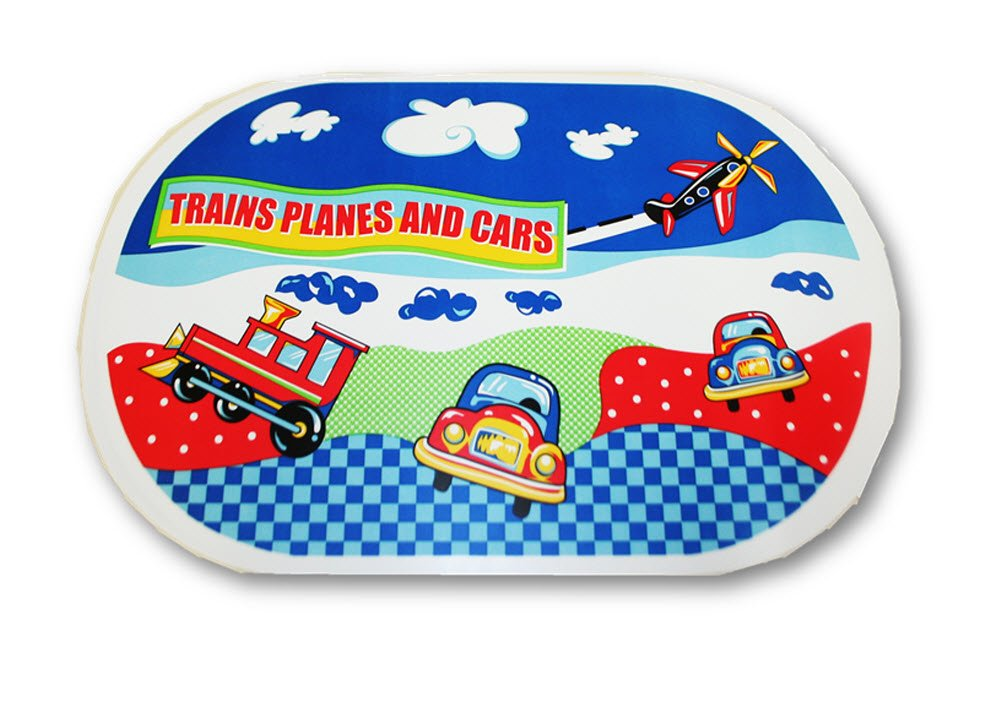 【35%OFF】 Planes, Trains and Cars Vinyl Placemat Set of Cars of 2 Trains by Better Homes B00K8H3TKS, Auto support Group:45c18d94 --- a0267596.xsph.ru