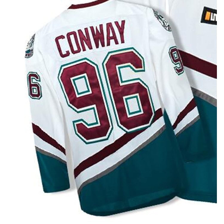 7c953e56a Amazon.com  SKIKOAALG Charlie Conway 96  Mighty Ducks Movie  Jersey   Clothing