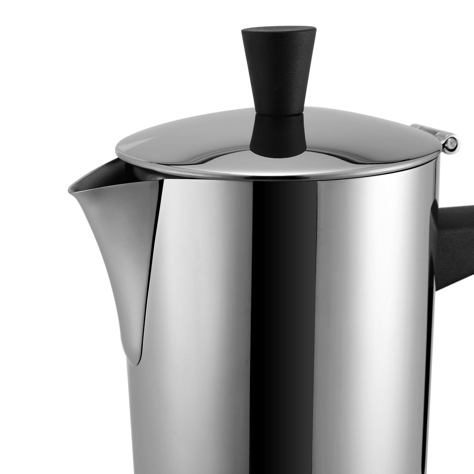 SONGMICS 6-Cup Stovetop Espresso Coffee Maker Moka Pot with Patented Valve, 18/8 Stainless Steel UKEM10BK by SONGMICS (Image #9)