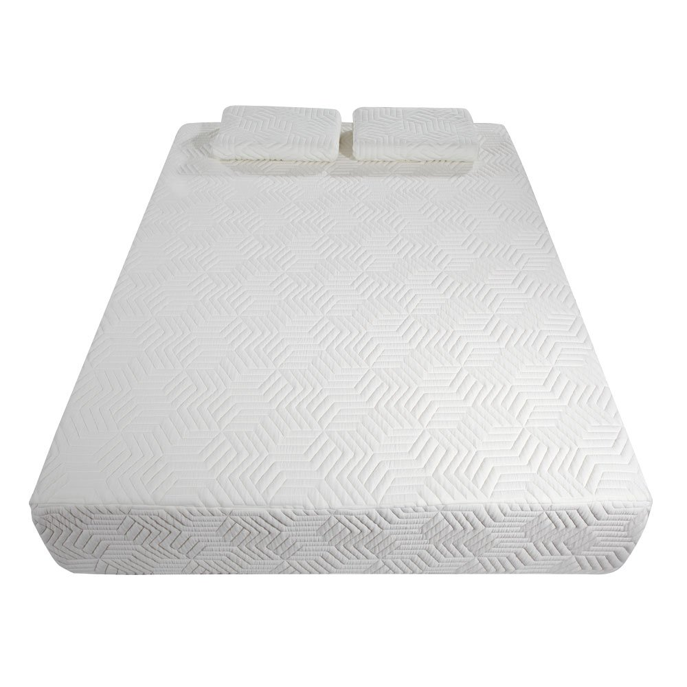 ImagineLife 14'' Three Layers Cool Medium High Softness Cotton Mattress with 2 Pillows (Queen Size) White by ImagineLife