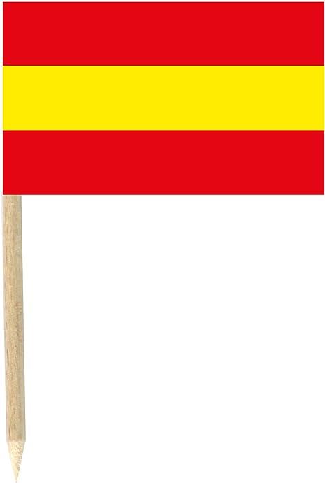 Generique - Lote de 50 Palillos Mini Banderas España 3x5 cm ...