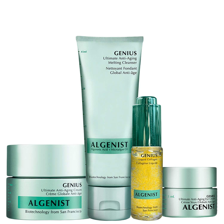 Amazon.com: Algenist Pure GENIUS Collection Kit - Liquid Collagen, Ultimate Anti-Aging Melting Cleanser, Eye Cream & Face Cream - Non-Comedogenic & Hypoallergenic Skincare (4 Piece Skincare Set): Beauty