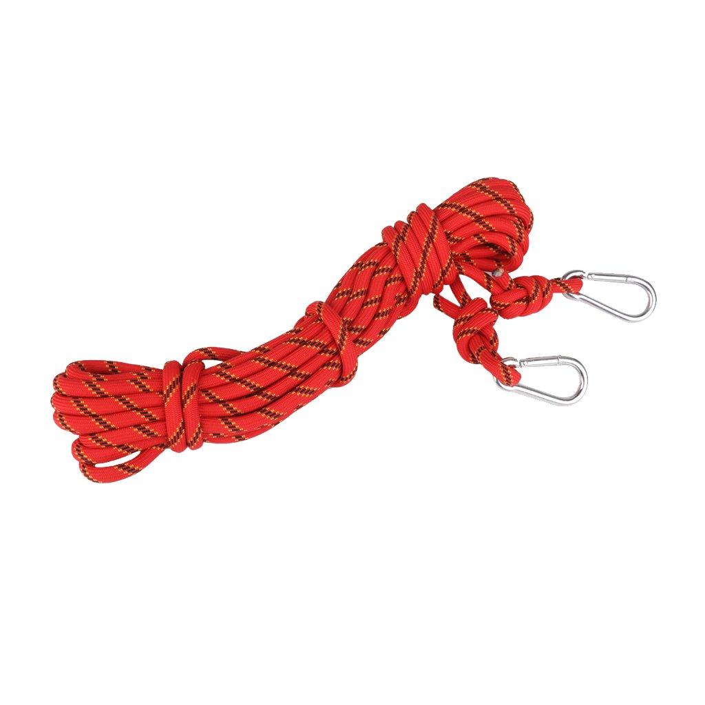 Corde descalade en Polyester Descente en Rappel Corde Auxiliaire de S/écurit/é Rouge 10M