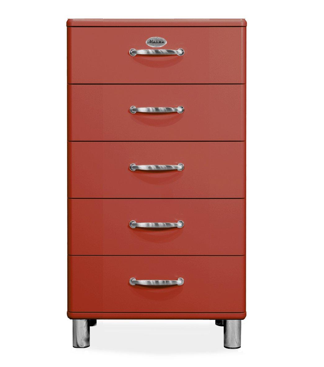 Tenzo 5215-028 Malibu Designer Kommode, MDF lackiert, 111 x 60 x 41 cm, rot