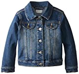The Children's Place Little Girls and Toddler Light Denim Jacket, China Blue, 5T