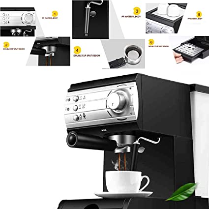 Máquina De Café Espresso, Espuma De Leche Semiautomática Doméstica, Vapor De Disolución Rápida,
