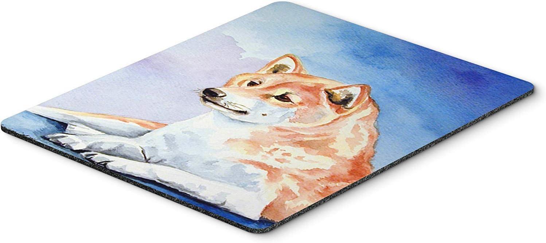 Caroline's Treasures 7135MP Red and White Shiba Inu Mouse Pad/Hot Pad/Trivet, Large, Multicolor [並行輸入品]