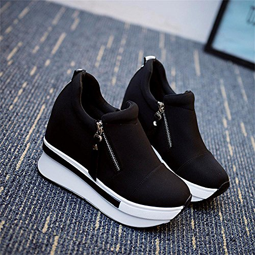 Course Baskets Noir Extrieures Gris Mode Running Dames Femmes Noir Semelles De Chaussures Pour Compenses Randonne paisses ZqawIv0x