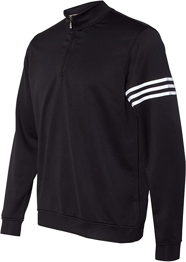 adidas Hombres de Golf Climalite 3-Stripes French Terry 1/4 Zip Pullover: Amazon.es: Hogar