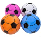 12 Inflatable Soccer Balls - Soccer Ball Inflates - 16'' Assorted Colors