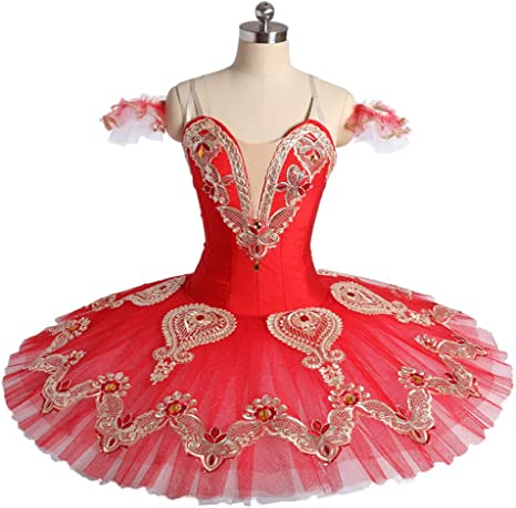 Womens Ballet Dress Professional Princess Ballet Skirt Swan Lake Tutu  Costume