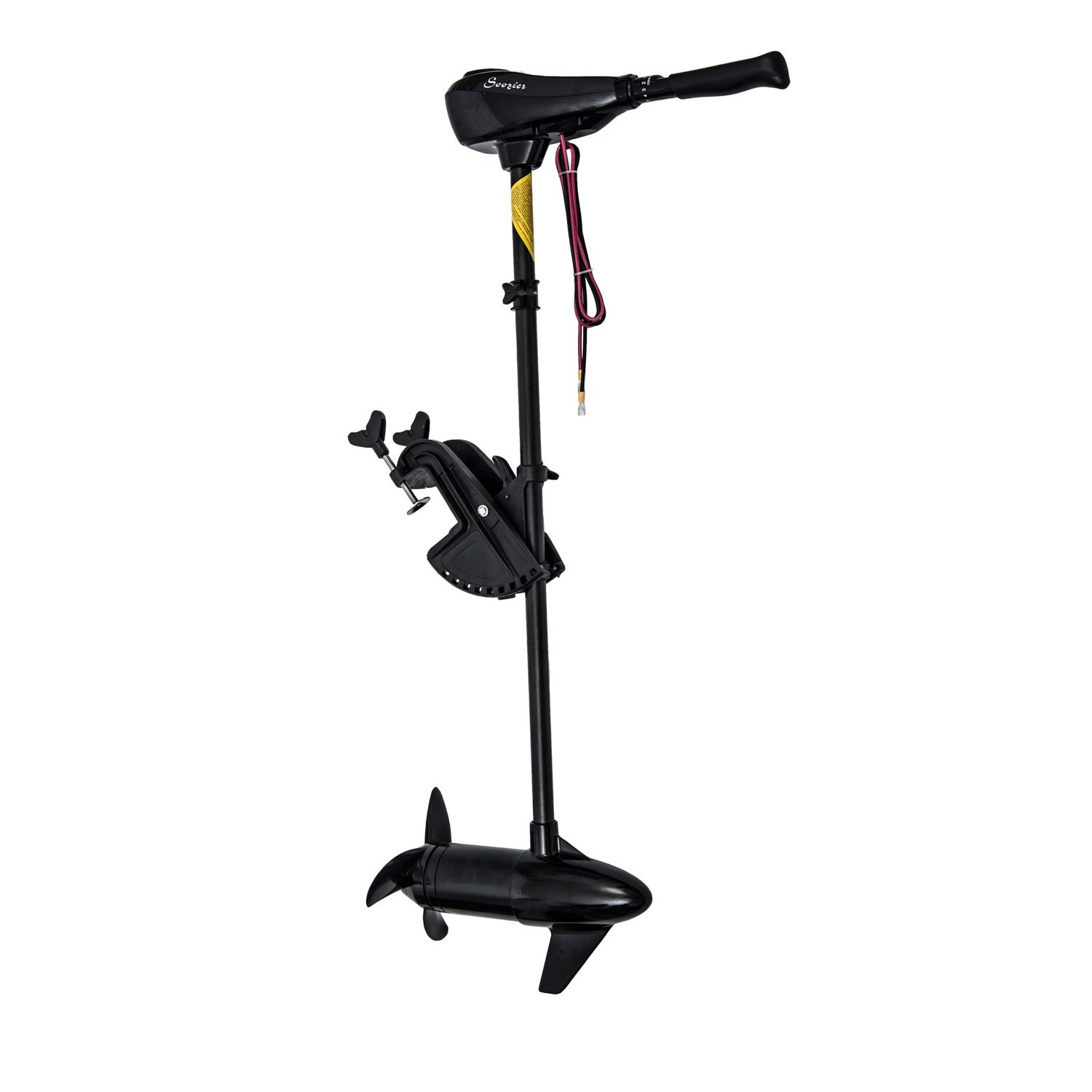 Outsunny 12V Transom Mounted 50-Pound Thrust Electric Fishing Boat Trolling Motor by Outsunny