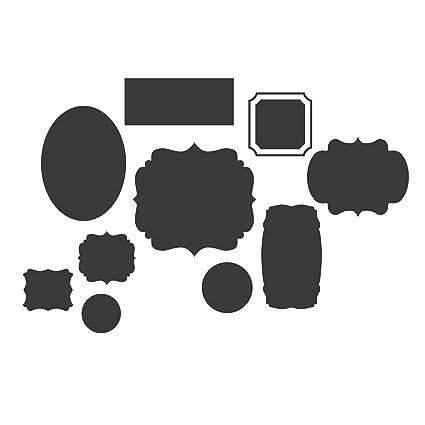 Pizarra conjunto de marcos en diferentes formas - Vinilo ...
