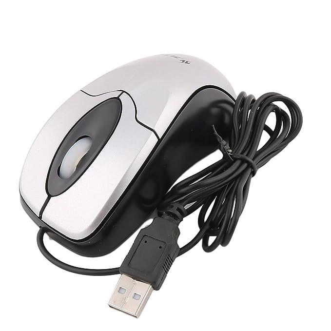 Amazon.com: eDealMax Ordenador portátil atado Con alambre LED 3 botones 800 DPI USB ratón óptico del juego gris: Electronics