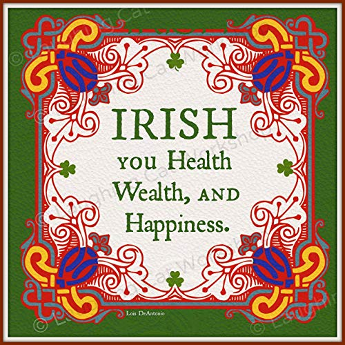 Irish you Health Wealth Happiness Good Luck Rich Money art Bless this Irish Home decor Funny Irish art Irish wedding toast Celtic Gaelic Scottish Irish home sweet home decor Ireland print (Best Irish Wedding Toasts)