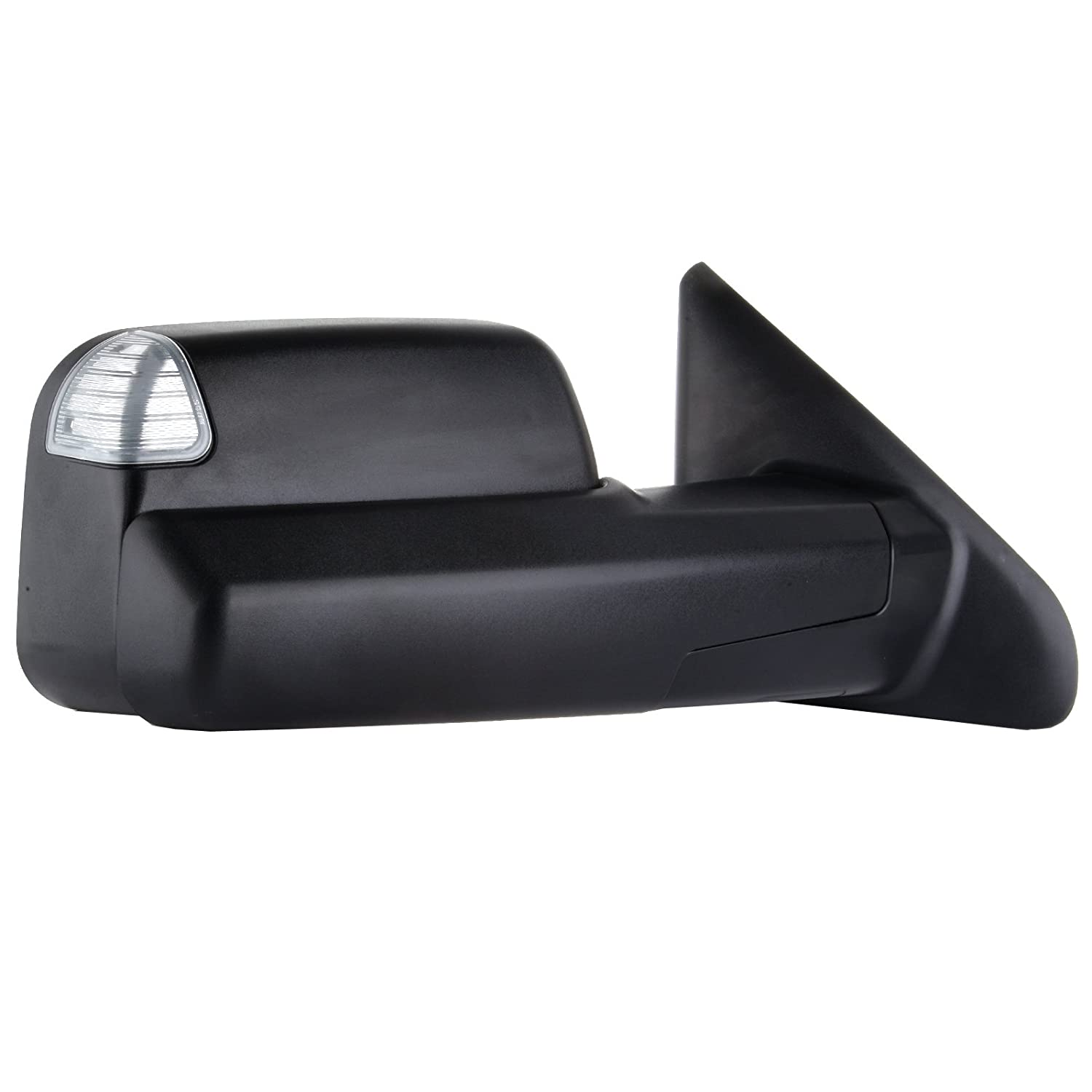 SCITOO fit Dodge Ram Towing Mirrors Black Rear View Mirrors fit 2002-2008 Dodge Ram 1500 2500 3500 Truck Larger Glass Power Control Heated Turn Signal Puddle Light Manual Flip up Folding 050727-5206-1747241
