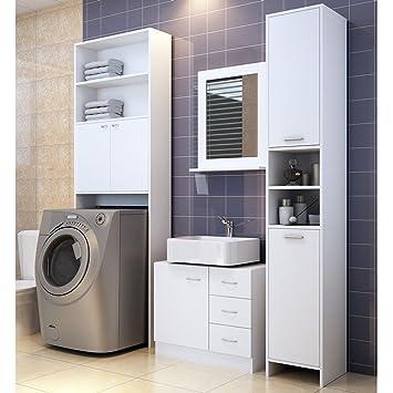 Meuble Étagère de rangement pour salle de bain toilettes Armoire ...
