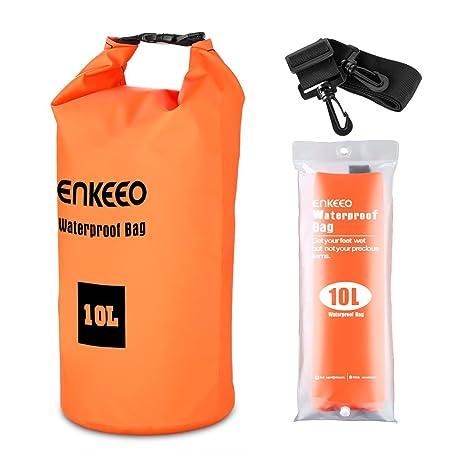 SUAOKI Enkeeo - Bolsa Seca Impermeable Mochila Estanca (10L, Material 500D PVC Grado Industrial, para Gimnasio o Actividades Al Aire Libre y ...