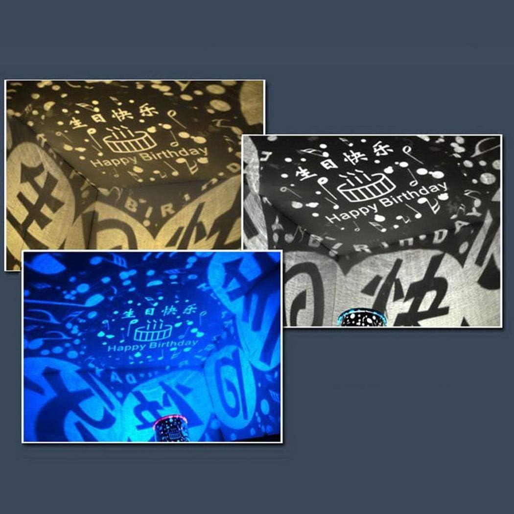 Chainscroll L/ámpara de proyecci/ón port/átil Hermosa l/ámpara de la decoraci/ón del Partido de la l/ámpara LED Iluminaci/ón Nocturna