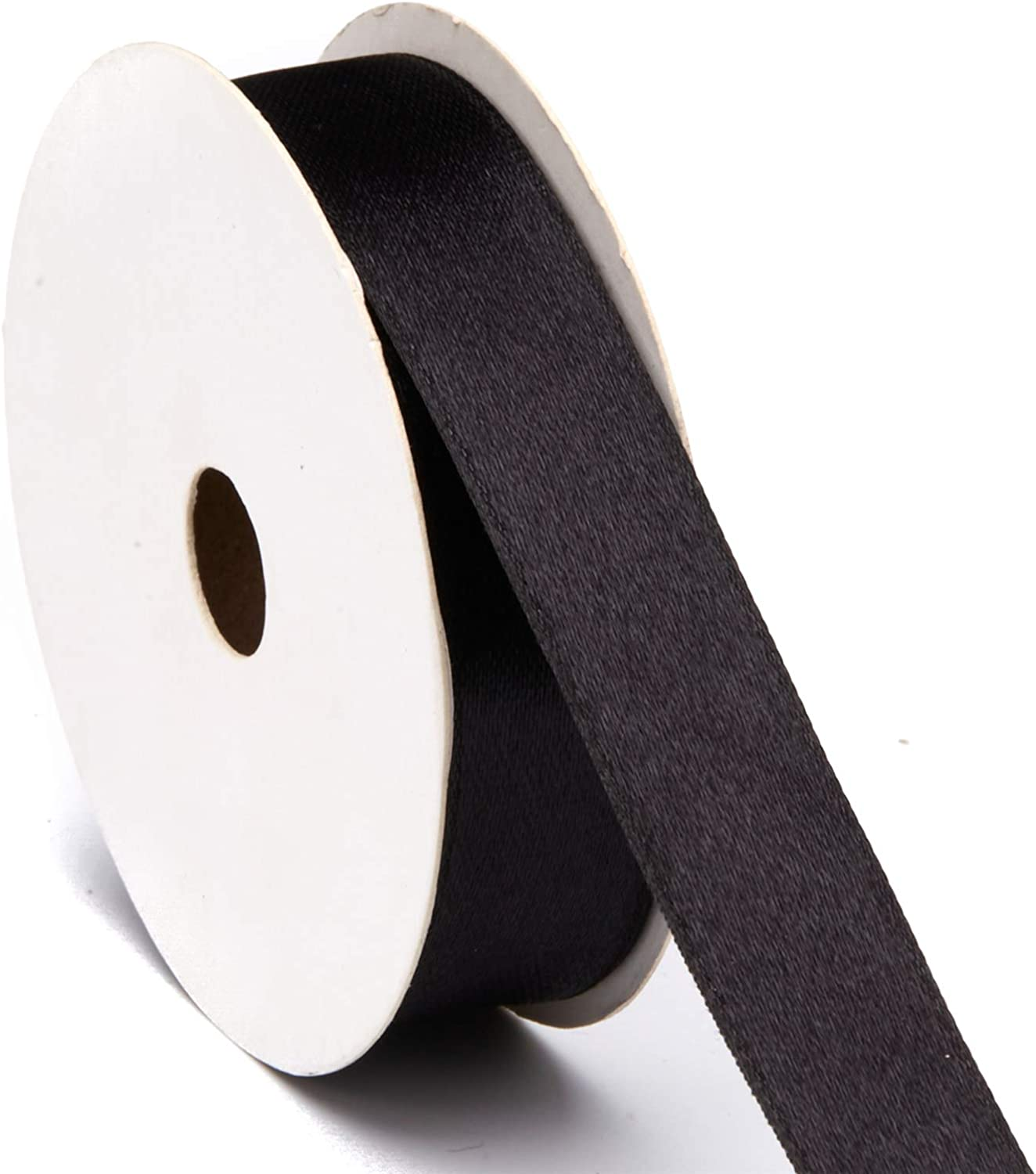 Black Satin Polyester Ribbon for Crafts Gift Wrapping Wedding Bridal Bouquet Christmas Party Home Decoration Sewing