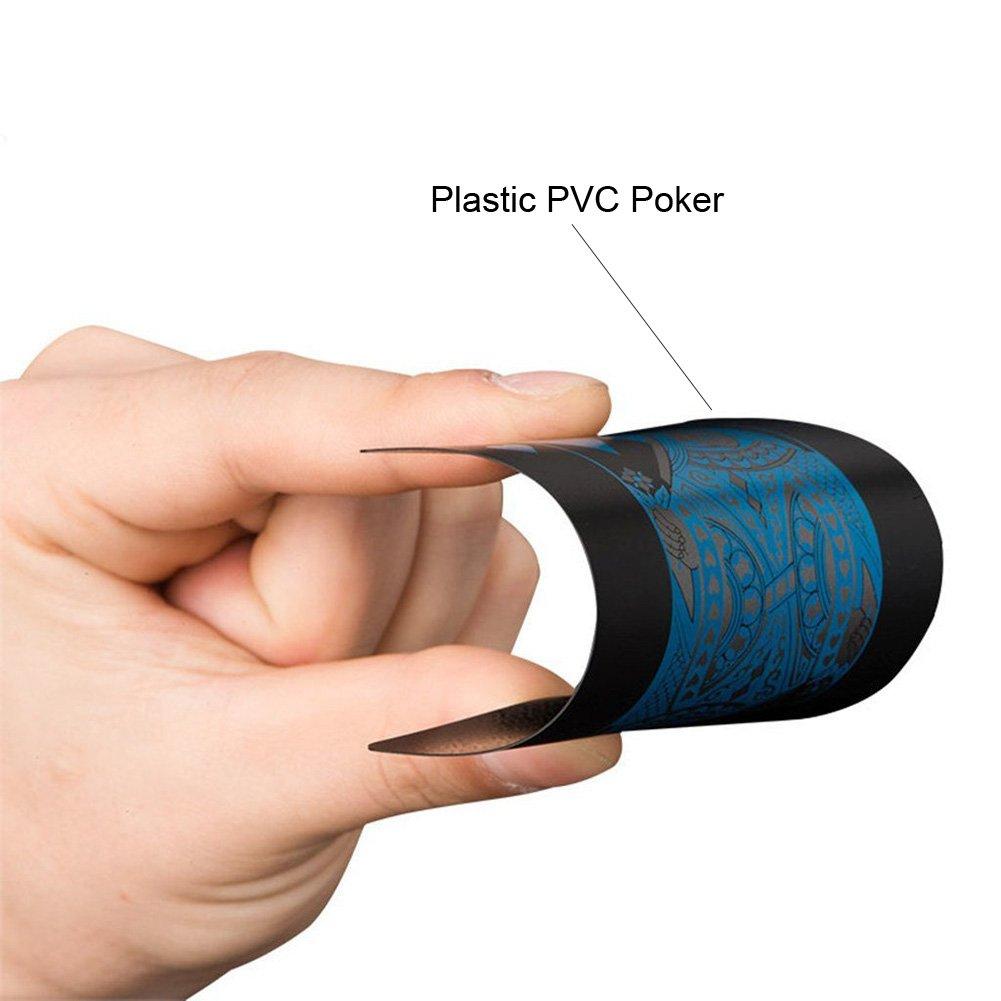 Ensembles de cartes /à jouer magiques en plastique PVC Poker Waterproof