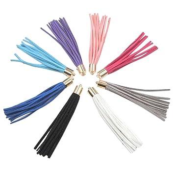 8 borlas para correas de bolso de mano o cartera, accesorios para llavero de coche, teléfono móvil, accesorios de joyería, de Wicemoon: Amazon.es: Hogar