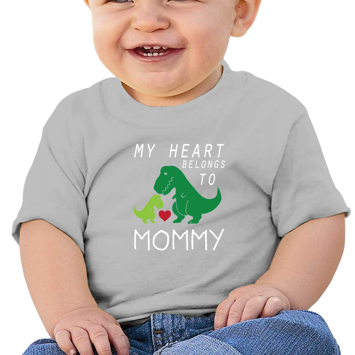 Arsmt My Heart Belongs to Mommy Toddler Short Sleeve Tshirt Girls Birthday Gift