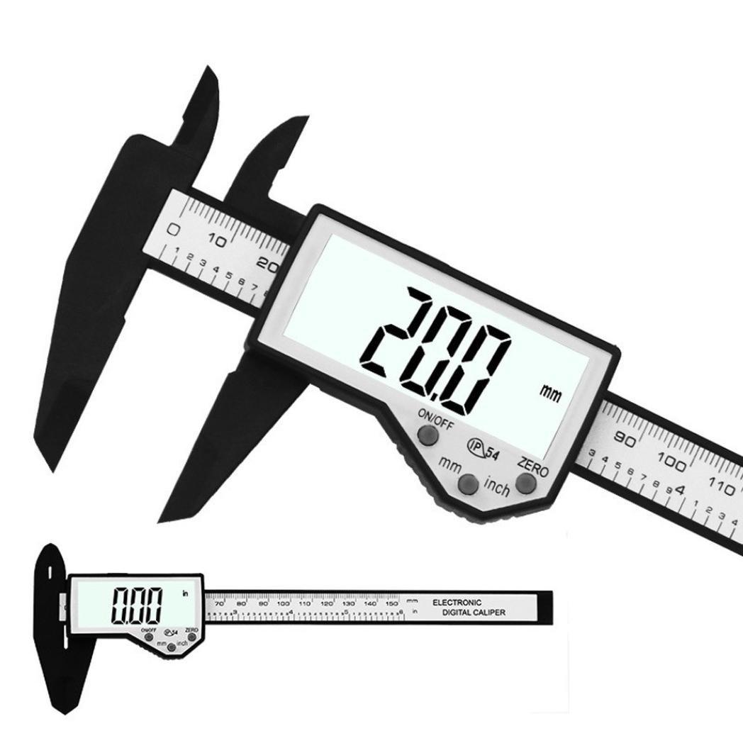 Wuayi /électronique Pied /à coulisse digital 150/mm//15,2/cm LCD /électronique en fibre de carbone Jauge Microm/ètre