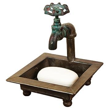 Amazon Com Tg Llc Primitive Country Faucet Spigot Bath Soap Dish