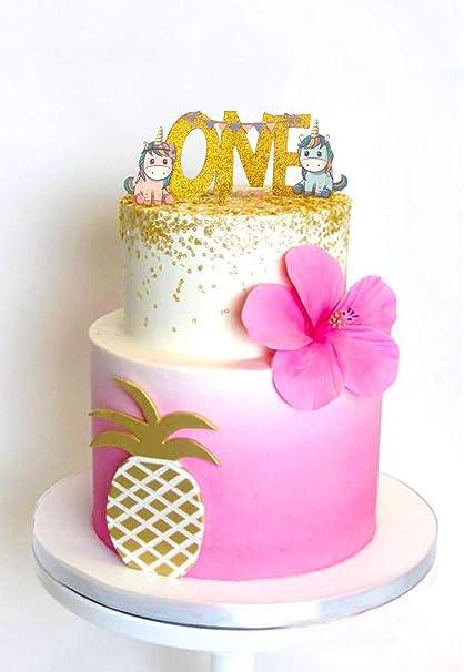 Amazon USA SALESHappy Birthday Cake Topper First Kids Unicorn Decoration By SALES Seller Kitchen