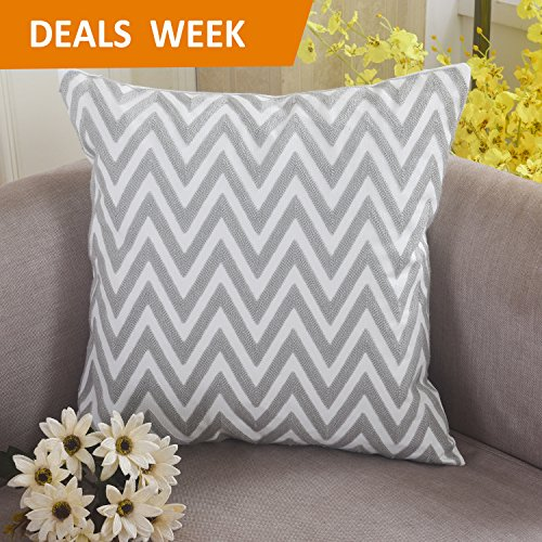 Home Brilliant Square Embroidery Throw Pillow Covers Cushion