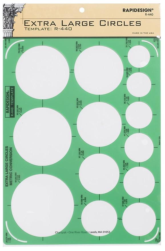 Circle Template | Amazon Com Rapidesign Circles Template 1 Each R40 Desk