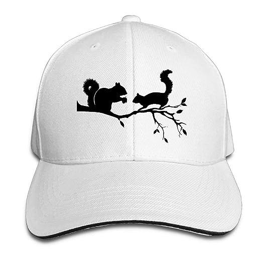696f4a7ad0a Man Boys Adjustable Truck Baseball Caps Sandwich Squirrels On Tree ...