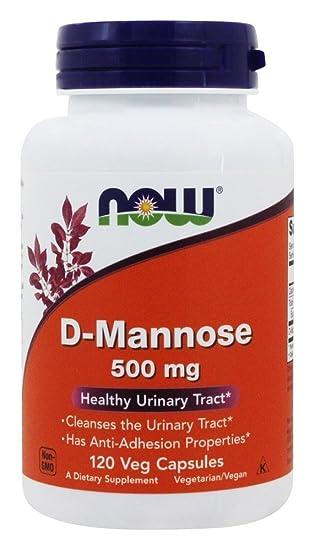 NOW Foods - Magnesio 500 del D-Mannose. - 120 cápsulas: Amazon.es: Salud y cuidado personal