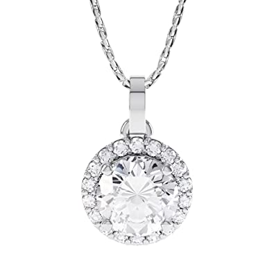 for girls solitaire diamond round cut pendant dp cubic necklace zirconia gizvyl